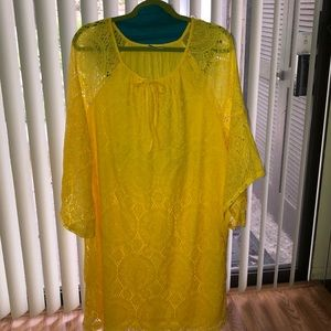 TACERA •Sunshine Yellow Dress• Gorgeous
